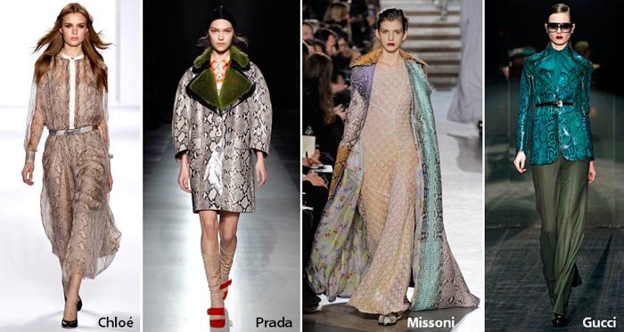 Stylelab Fashion Beauty Blog Trends Aw 2011 Snake Print Designers Chloe Prada Missoni Gucci1