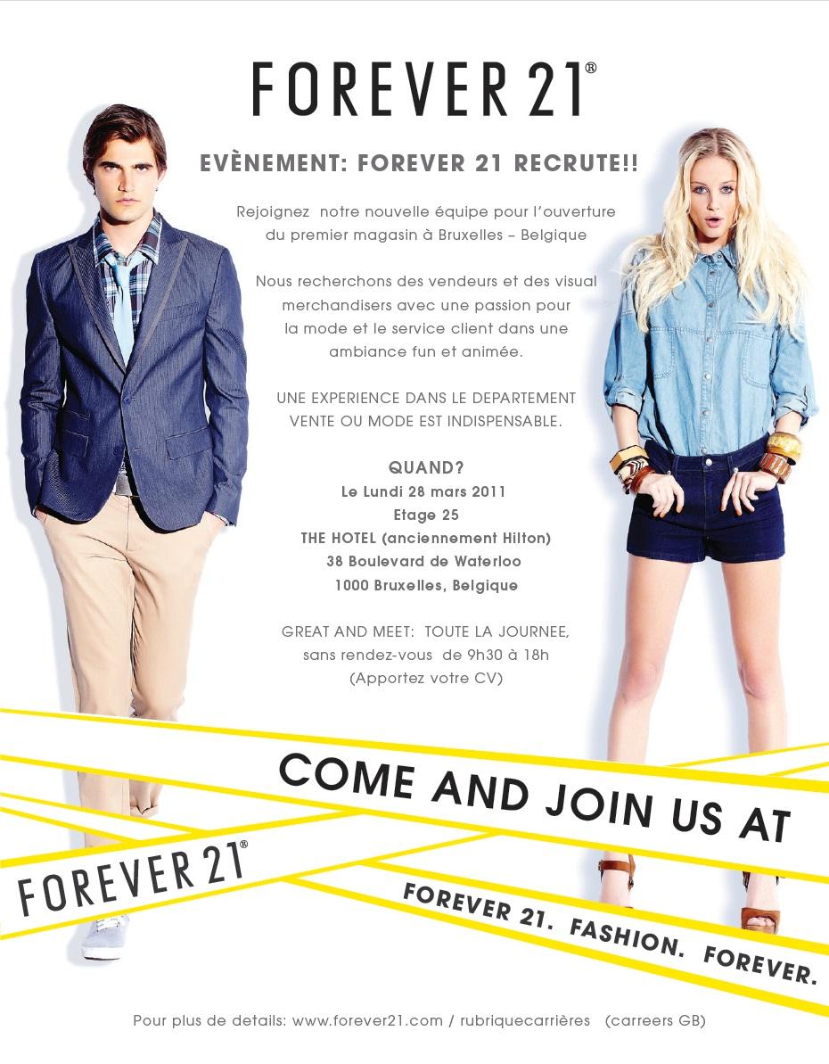 StyleLab Forever21 jobs recruter