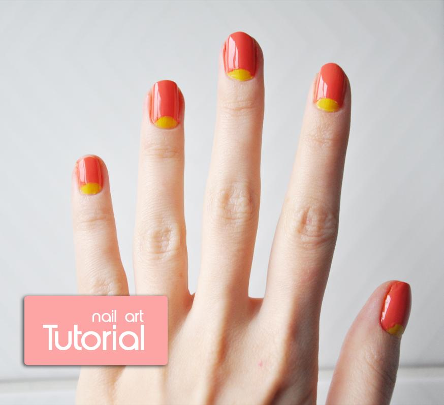stylelab beauty blog nail art tutorial half moon mani | StyleLab
