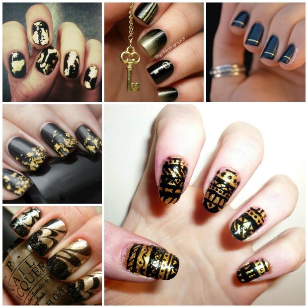 Stylelab Beauty Blog Notd Nail Art Inspiration Black And Gold 2 | StyleLab