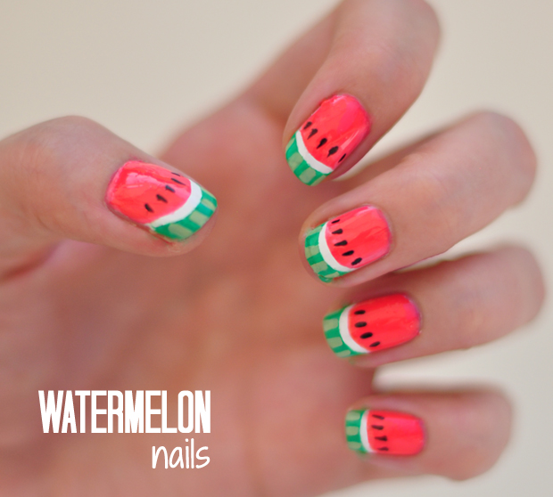 Notd watermelon nails tutorial stylelab notd watermelon nails tutorial prinsesfo Gallery