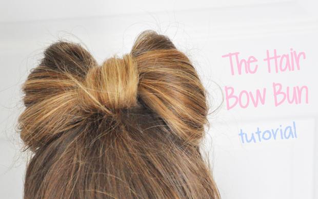 Hair Bow Tutorial The hair bow bun!