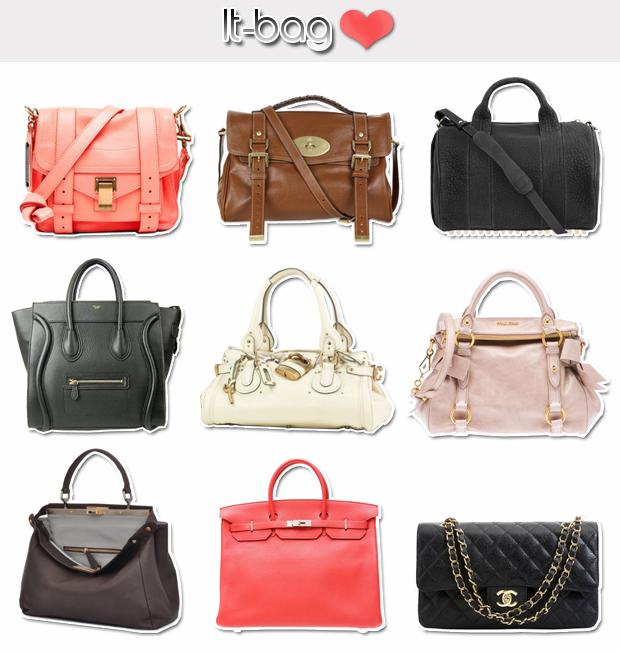 ...Miu Miu Vitello (small) - Fendi Peekaboo - Hermès Birkin - Chanel.