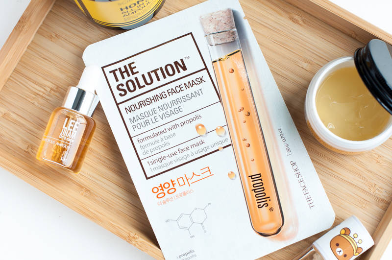 the face shop the solution nourishing mask propolis